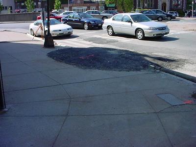 Beacon Street Asphalt Pile