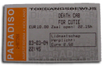 Death Cab for Cutie Ticket